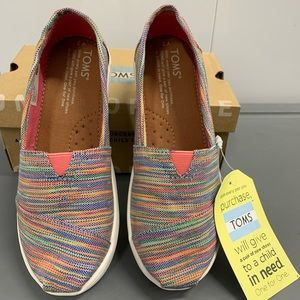 Classic TOMS blue water multi space dye NWT!